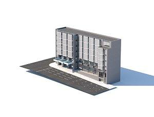 3D office building city model