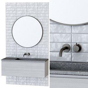 furniture set bathroom 3D model