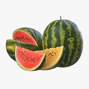 3d watermelon slice model