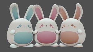 Plush Rabbit 3D model