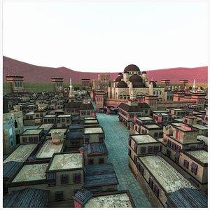 3D town desert ancient model