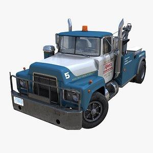 Vintage tow truck PBR 3D model