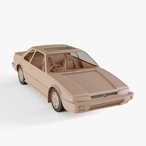 1983 Honda Prelude 3D model