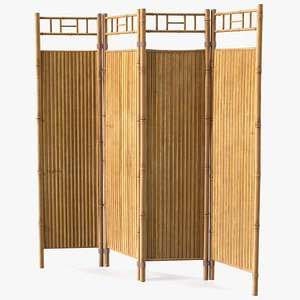 3D Bamboo Room Divider Wall Screen