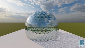 3D geodesic dome