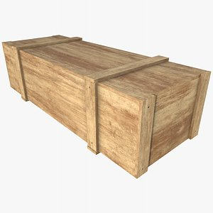 3D Wooden Crate 4  With PBR 4K 8K