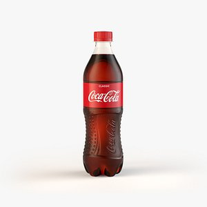 3D CocaCola Bottle 0,5L model