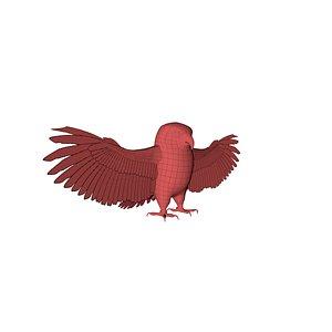 3D mesh owl model