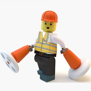 3D Lego worker Terry