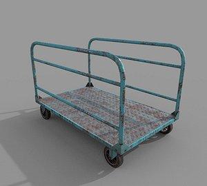 3D Old Platform Trolley B model