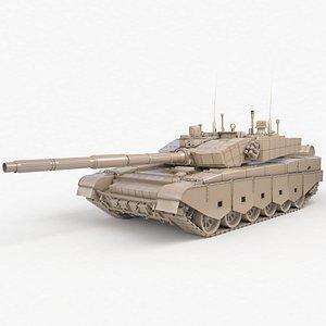 Tank China Type ZTZ 99A MTB Clay Vray 3D