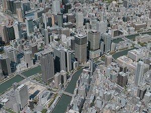 osaka city 3D model