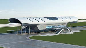 3D Light Rail Station 04