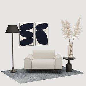 furniture composition decor model