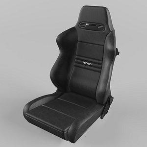 RECARO Speed Black Vinyl Seat 3D model