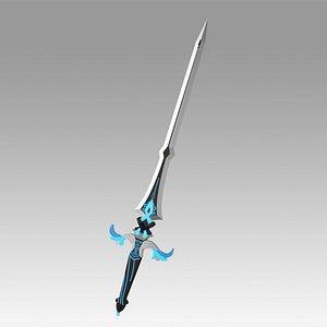 Genshin Impact Kaeya Traveler Jean Keqing Qiqi Xingqiu Sacrificial SwordfbxGenshin Impact Kaeya Trav 3D model
