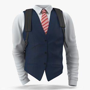 3D vest bag school model