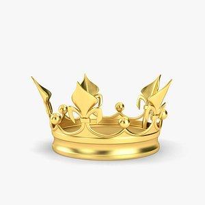3D golden crown gold