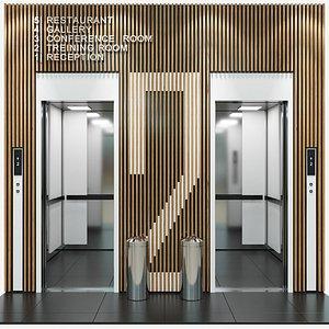 passenger elevator 3D
