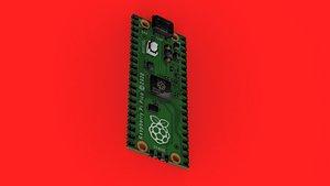Raspberry Pi Pico 3D model