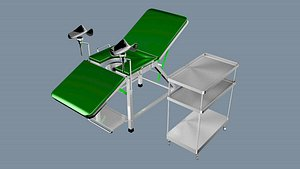 BLADDER STONE CRUSHING AND PROSTATE LASER SURGERY STRETCHER 3D model
