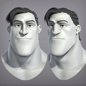 cartoon male character 3D model