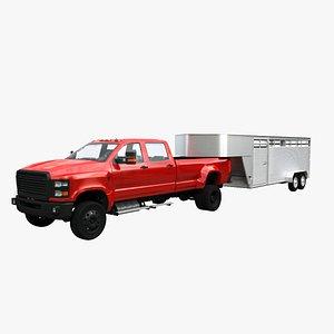 trailer pickup 3D model