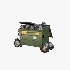 3D model dumpster container