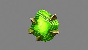 Cartoon Emerald - Green Agate - Jade - A magic weapon gem 3D model