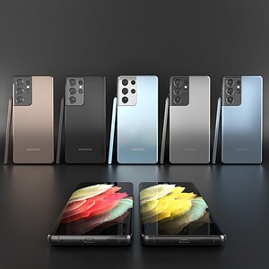 3D samsung galaxy s21 ultra model