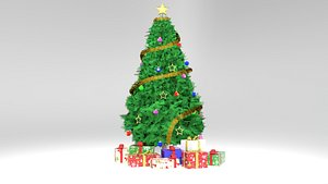 Christmas tree with Gifts 3D model 3D