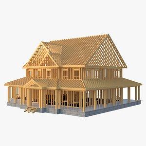 3D House Framework model