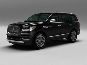 3D Lincoln Navigator SUV Luxury car model