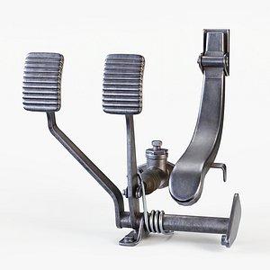 Vintage Car Ppedals PBR 3D model