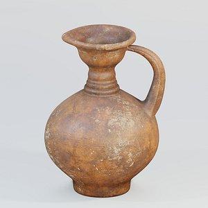 3D jug ancient terracotta
