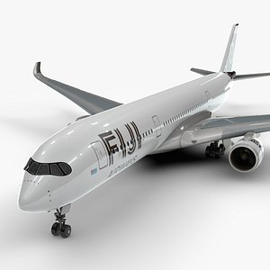 3D a350-900 fiji airways l1135 model