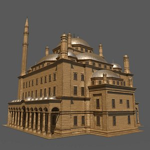 3D mosque building architecture