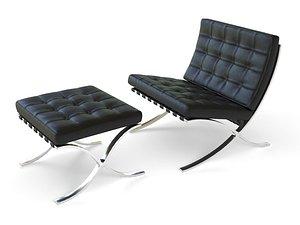 barcelona chair 3D