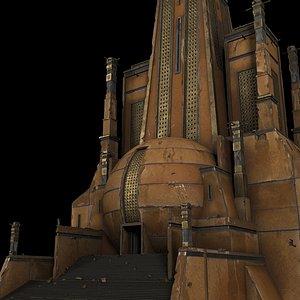 3D Ancient temple