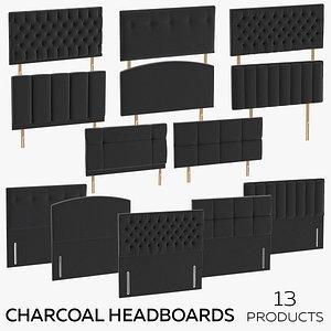 Charcoal Headboards 3D model