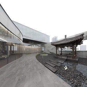 3D Asian Art Exhibition Center model