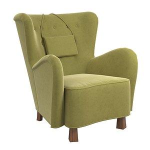 3D otto schulz lounge model