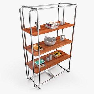 3D pbr shelf wood