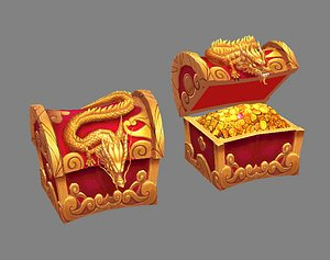 treasure chest dragon 3D model