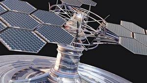 3D solar array model