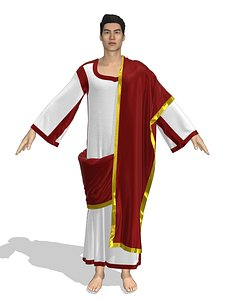 3D Roman senator