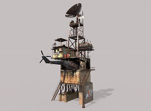3D Post-Apocalyptic Outpost Tower