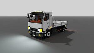 3D voxel flatbed truck vox