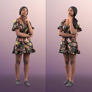 woman summer dress 3D model