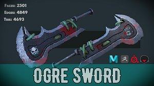 Stylized Ogre Sword 3D model